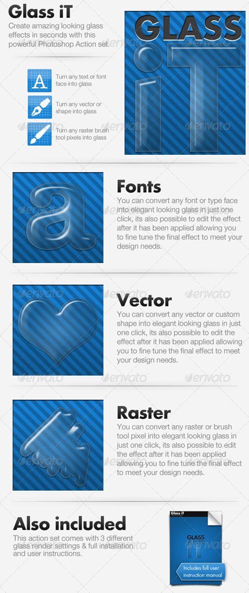 GraphicRiver Glass iT - Glass Creating Action