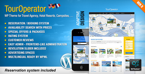 ThemeForest  Tour Operator v3.3  WP theme with Reservation System