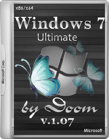 Windows 7 Ultimate SP1 by Doom v.1.07 (x86/x64/RUS/2014)