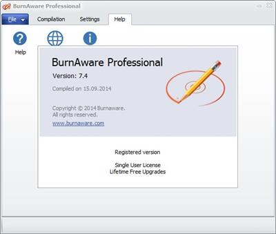 BurnAware Professional 7.4 + Portable