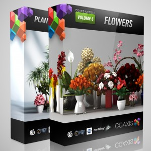 CG AXIS Models Volume 21, 26 and Convexshapes 3D Potted Plants