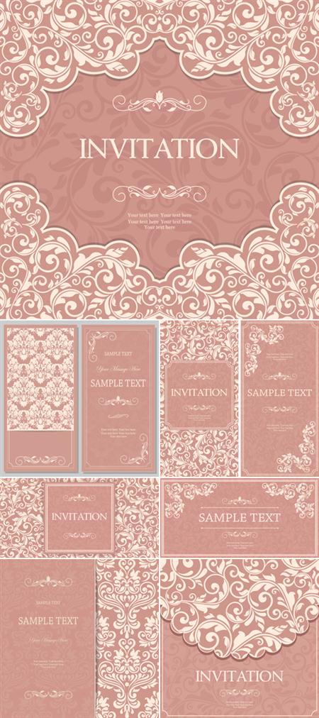 Elegant Pink Floral Backgrounds Vector