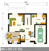 """Скачать проект, чертеж дома: Проект односемейного дома """"Эпиграмма"""" (Рабочий Проект)"""