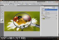 Видеоурок photoshop Эффекты - Рисуем реалистичное увеличительное стекло (2013)