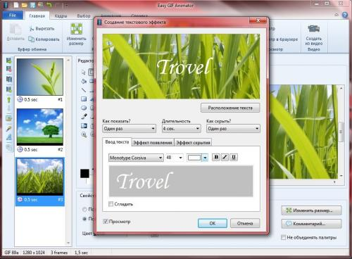Easy GIF Animator 6.1 x86+x64 MULTi/RUS RePack & Portable by Trovel
