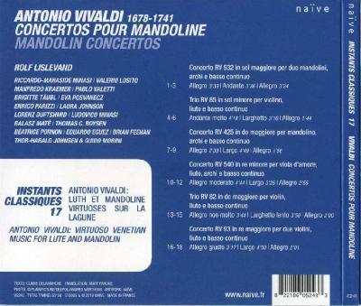 Antonio Vivaldi: Concertos pour Mandoline (Rolf Lislevand) / 2010 Naïve