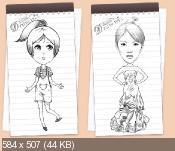 DrawWiz 1.50 - поможет нарисовать эскиз девушки