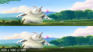 Большой Бак 3Д / Big Buck Bunny 3D ( by Ash61) Вертикальная анаморфная