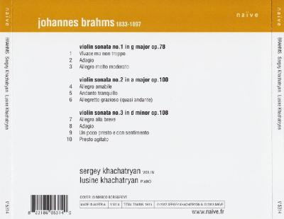 Sergey & Lusine Khachatryan - Brahms Sonatas / 2013 Naïve