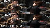 Без черных полос (На весь экран) Как приручить дракона 2 в 3Д / How to Train Your Dragon 2 3D (Лицензия ) Вертикальная анаморфная