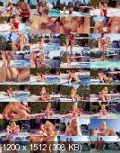 У бассейна с сисястой блондиночкой