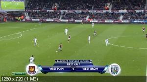 Футбол. Чемпионат Англии 2014-15. 20-й тур. Вест Хэм Юнайтед - Вест Бромвич Альбион [01.01] (2015) HDTVRip 720p   50 fps