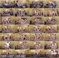 YoungSexParties - Katya, Karen, Emma - Winter Break Sex Party In A Dormitory [HD 720p]