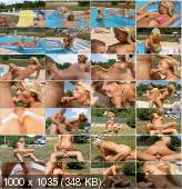 ClubSevenTeen - Christina - Blonde Teenager Seduces Her Boyfriend In The Pool [SD]