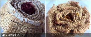 Цветы из мешковины, джута, шпагата 20830ddd7e4a07b1832cee1af891d07e