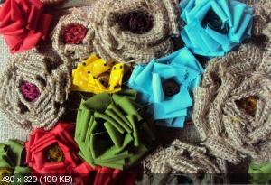 Цветы из мешковины, джута, шпагата F5e094b78f0344210fa27a8c79090fce