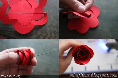 Цветы из дизайнерской бумаги 325acb71cdeedf7301e9737d1147f329